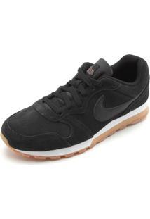 Tênis Couro Nike Sportswear Wmns Md Runne Preto