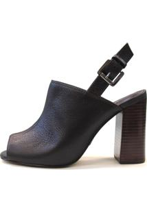 Ankle Boot Villari Shoes Salto Block Médio Marrom