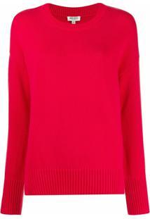 Kenzo Suéter De Tricô Com Logo - Rosa