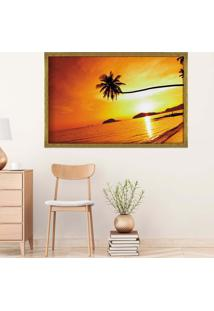 Quadro Love Decor Com Moldura Sunset Dourado Médio