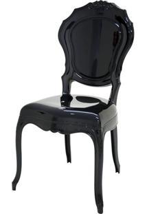 Cadeira Belle Epoque Policarbonato Cor Preto - 21717 Sun House
