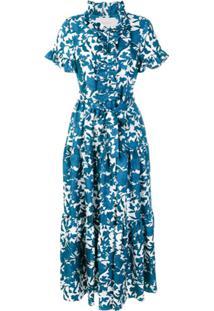 La Doublej Vestido De Seda 'Lilium' - Azul