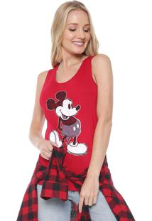 Regata Cativa Disney Mickey Mouse Vermelha