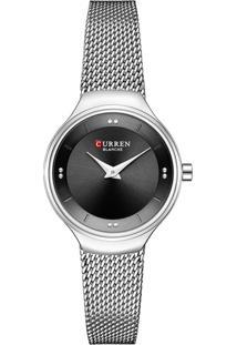 Relógio Curren Analógico C9028L Prata E Preto