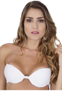 Sutiã Click Chique Alça Multifuncional Silicone Branco
