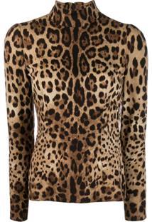 Dolce & Gabbana Blusa Com Animal Print - Neutro