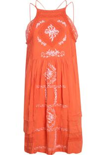 Vestido Be Fashion 4Ever Renda Laranja
