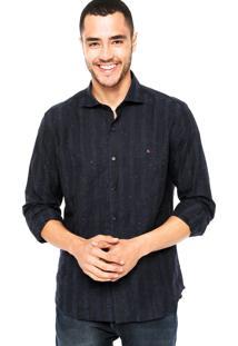 Camisa Aramis Estampada Azul-Marinho