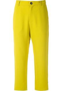 Uma | Raquel Davidowicz Calça Cropped Ada - Amarelo