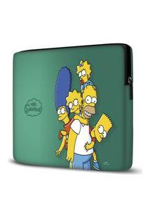Capa Para Notebook Simpsons Verde 15 Polegadas