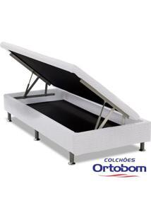 Box Solteiro Com Baú Physical - Branco - Ortobom
