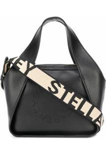 Stella Mccartney Bolsa Tote Stella Com Logo - Preto