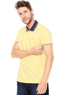 Camisa Polo Aramis Manga Curta Logo Amarela