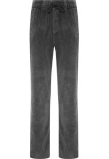 Calça Masculina Casual Plush Marmorizado - Cinza
