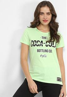 Camiseta Coca Cola The Bottling Co-Feminina - Feminino-Verde Escuro