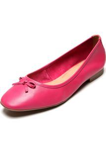Sapatilha Couro Bottero Laço Pink
