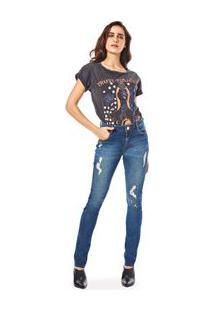 7e33d6f7ce ... Calca Skinny Andreia Cos Intermediario Detalhe Pesponto Jeans