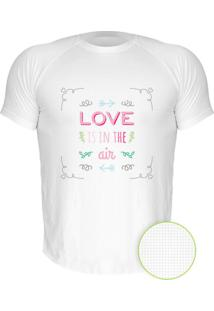 Camiseta Manga Curta Nerderia Love In The Air Branco