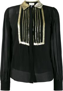Temperley London Blusa Com Paetês - Preto