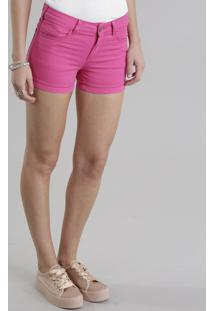 Short De Sarja Feminino Reto Pink
