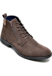 Bota Dress Boot Masculina Eco Canyon Broklin Suede Marrom