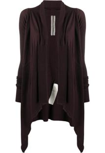 Rick Owens Long-Length Virgin Wool Cardigan - Vermelho