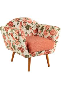 Poltrona Stay Puff Conforto Teresa Dual Floral Rose