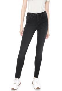 Calça Sarja Calvin Klein Jeans Skinny Five Pockets Preta