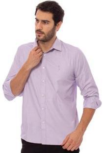 Camisa Aleatory Manga Longa Purple Masculina - Masculino-Roxo