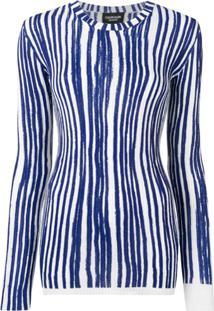 Calvin Klein 205W39Nyc Suéter Listrado - Azul