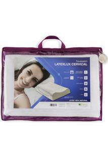 Travesseiro Cervical De Látex Contour Latexlux