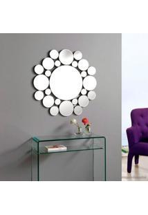 Espelho Decorativo Vns Círculos Moderno Grande 60X60 Cm