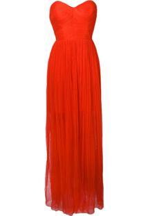 Maria Lucia Hohan Vestido Longo Tiara - Vermelho