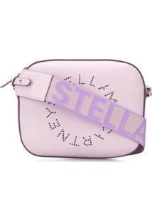 Stella Mccartney Mini Stella Logo Camera Bag - Roxo