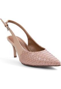 Sapato Chanel Com Recorte Nude