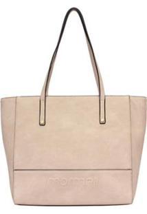 Bolsa Shopping Bag Alto Relevo Mormaii - Feminino-Bege