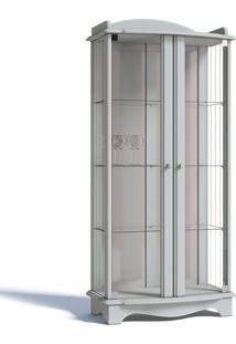 Cristaleira Imcal Charme 02 Portas Com Vidro Branco Acetinado