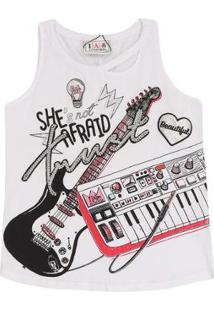 Regata Rock Guitar - Feminino-Branco