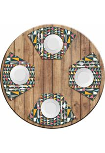 Jogo Americano Love Decor Para Mesa Redonda Wevans Geometric Colors Kit Com 4 Pçs