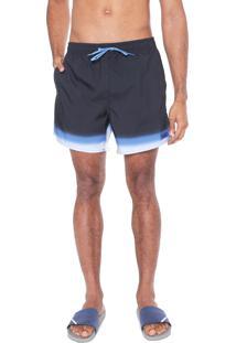 Bermuda Água Calvin Klein Quadrada Degradê Azul-Marinho