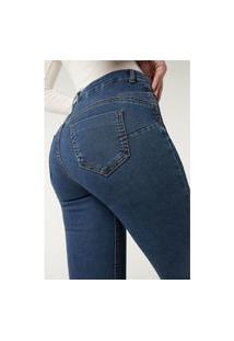 Calça Jeans Push-Up Macias - Azul P