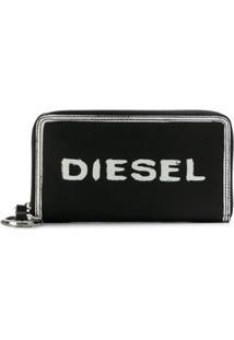 Diesel Carteira Com Estampa - Preto