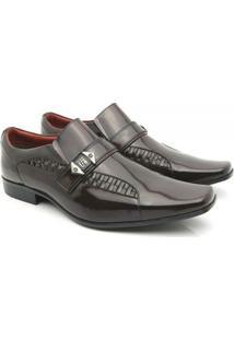 Sapato Social Couro Venetto Prince - Masculino-Marrom