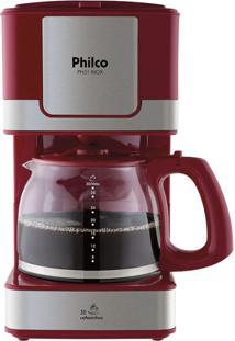 Cafeteira Inox Vermelha Philco 220V Ph31
