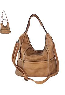 Bolsa Its! Hobo Patchwork Taupe