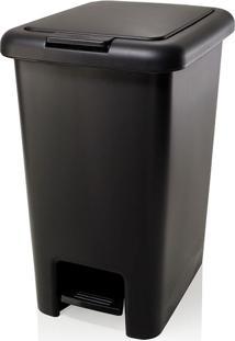 Lixeira De Plástico Com Pedal Click Ou Preta 20L - 8074