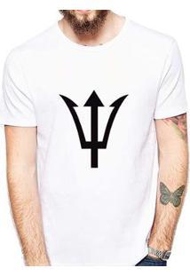 Camiseta Coolest Tridente Masculina - Masculino-Branco