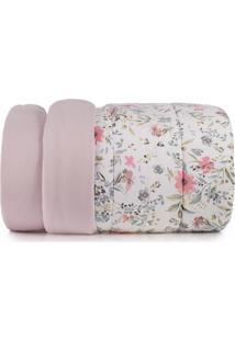 Edredom Casal Altenburg Malha In Cotton 100% Algodão Vivacitá - Rosa Rosa