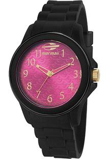 Relógio Analógico Mormaii Mo2035Cq-8Q Feminino - Feminino-Preto+Rosa
