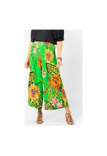 Calça Pantalona Almaria Plus Size Munny Estampada Verde